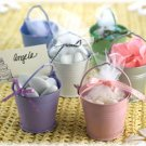 Set of 12 - Colored Tin Favor Pails Wedding Favors