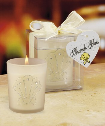 Shell Design Candles Wedding Favors