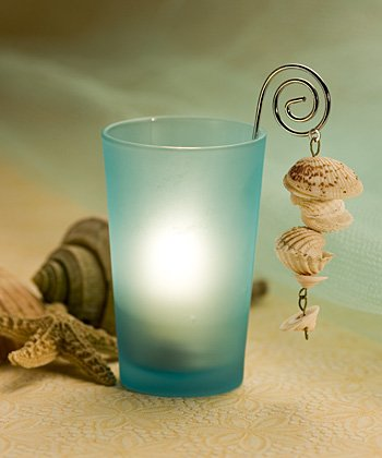 Shell Design Candle Holder Wedding Favors