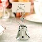 """Set of 4 """"Charming"""" Silver Bells with Dangling Heart Charm Wedding Favors"""