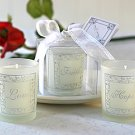 Faith, Hope & Love - Set of 3 Frosted Gift Boxed Votive Candles Wedding Favors