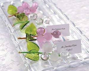 'Allure' Glass Grapes Placecard Holders - Set of 4
