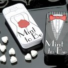 'Mint to Be' Bride and Groom Slide Mint Tins with Heart Mints Wedding Favors