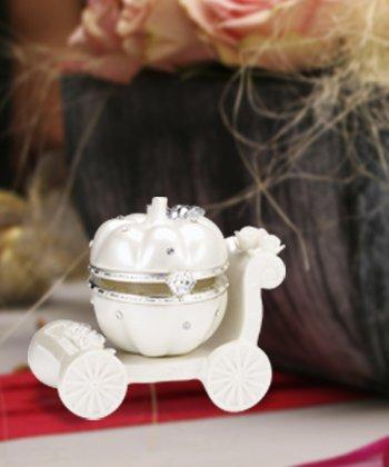 Pumpkin Carraige Hinged Box Fairytale Wedding Favors