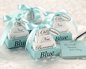 Something Old, New, Borrowed, and Blue Notes Set Wedding Favors