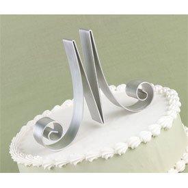 Monogram Letter Cake Top