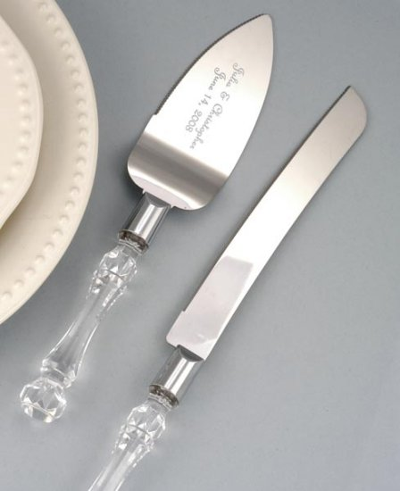 Simply Satin Cake Serving Set - Personalized