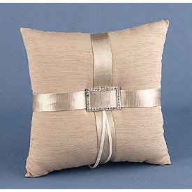 """Sparkling Adoration"" Wedding Ring Pillow"