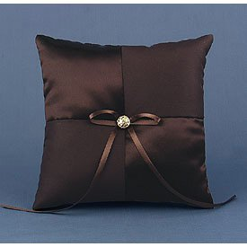 """Mocha Dream"" Wedding Rings Ceremony Pillow"
