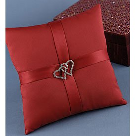 """""""With All My Heart"""" Pillow - Choose color Claret or White"""