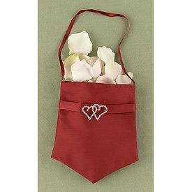 """With All My Heart"" Claret Flower Satchel w/ Swarovski Crystal Hearts"