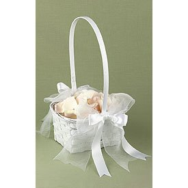 """""""He Loves Me"""" Flower Wicker Basket"""
