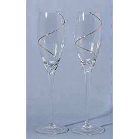 Gold or Silver Swirl Flutes