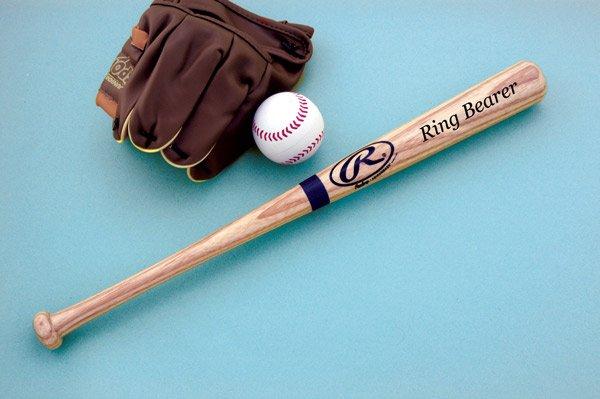 "17"" Engraved Rawlings Ring Bearer's Baseball Bat - Personalized"