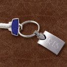 Personalized Silver Engraved Keyring - Groomsmen Gift