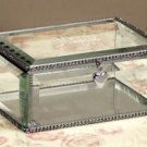 Personalized Beveled Glass Enraved Jewelry Box - Bridesmaid Gift