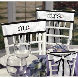 """""""Together at Last"""" Wedding Chair Sashes"""