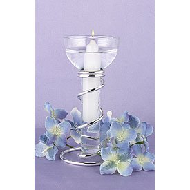 Silver Spiral Candle Stand Wedding Table Decor Centerpiece