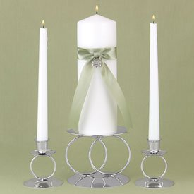 """Irish Heritage"" Unity Candle Wedding Set with Claddagh Charm"