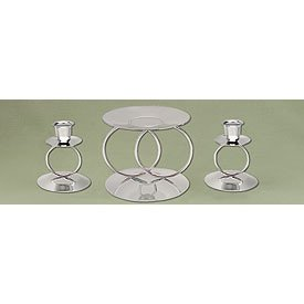 Wedding Rings Unity Candle Stands - Gold or Silver