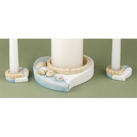 """Seaside Jewels"" Beach Theme Wedding Unity Candle Holders"