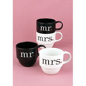 """Together at Last"" Mr & Mrs Coffee Mugs - Wedding Honeymoon Gift"