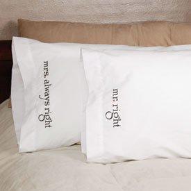 Mr & Mrs Right Pillowcases - Wedding Honeymoon Gift