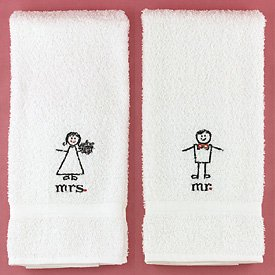 """""""Together At Last"""" Mr. And Mrs. Hand Towels"""