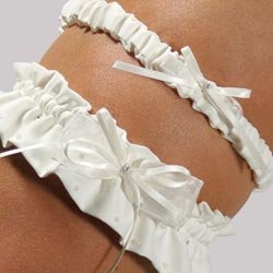 Candlelight Adjustable Bridal Garter & Tossing Garter