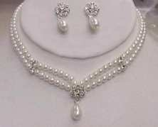 Two-Strand Beauty Necklace and Earrings Set