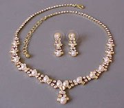 Gorgeous in Gold Necklace and Earrings Set
