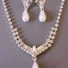 Elegance Defined Pearl Necklace and Earrings Set