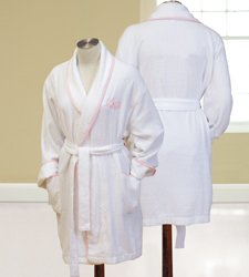 Personalized Terry Cloth Spa Embroidered Robe - Monogram Gift