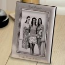 Engraved Beaded Silver Picture Frame - Personalized Gift