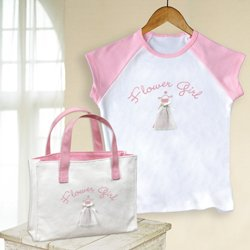 Flower Girl Tee and Tote Gift Set