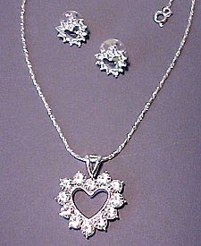 Be My Valentine Necklace and Earrings Set