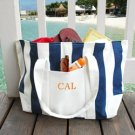 Striped Canvas Tote Bag - Personalized Bridesmaids Gift