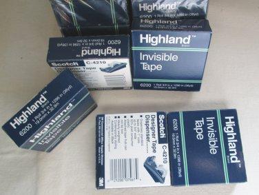 4x36 yrds 3M Highland Scotch Invisable Tape