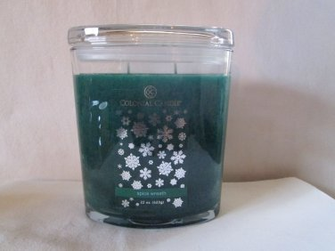 Colonial Candle 22 oz ~SPICE WREATH~ Scented Oval Jar w/ lid
