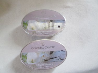 """2 Colonial Candle Simmer Snaps""""DRIFTWOOD BLOSSOM"""" 2.4 oz wax melts/ tarts"""