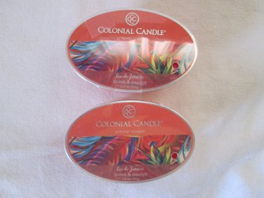 "Colonial Candle Simmer Snaps""GUAVA & PAPAYA""2.4 oz wax melts/ tarts"
