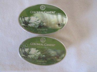 """2 Colonial Candle Simmer Snaps""""EMERALD FIR""""2.4 oz wax melts/ tarts"""