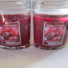 2 Colonial Candle 8 oz ~CRANBERRY SPICE~ Scented Oval Jar w/ lid