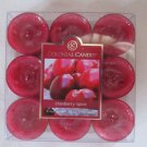 Colonial Candle ~~CRANBERRY SPICE~~ Scented Tea Lights 9/ pack New