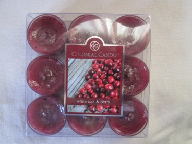 Colonial Candle ~~WHITE OAK & BERRY~~ Tea Lights 9/ pack New