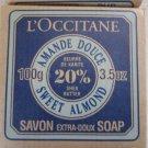L'Occitane SWEET ALMOND 20% Shea Soap 3.5 oz Rare