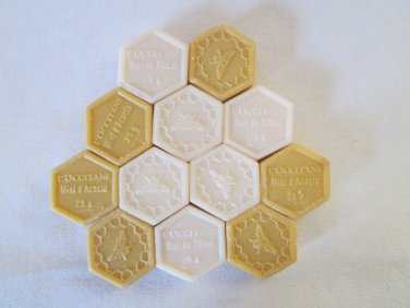 12 Authentic L'occitane Honey Harvest Guest Soaps (loose)