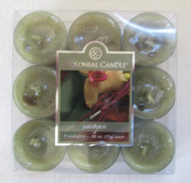 Colonial Candle ~~PATCHOULI~~ Tea Lights 9/ pack New