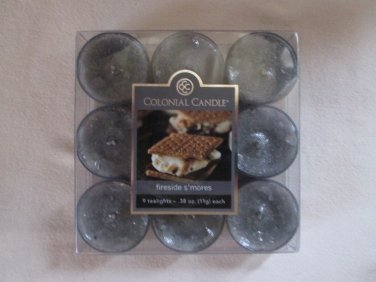 Colonial Candle ~~FIRESIDE S'MORES~~ Tea Lights 9/ pack New