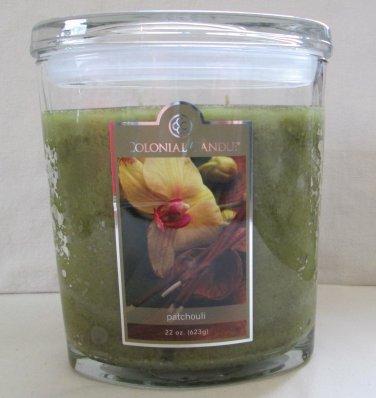 Colonial Candle 22 oz ~PATCHOULI~ Jar Candle